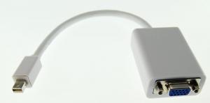 Adaptador Mini DisplayPort a VGA - Adaptador de Mini DisplayPort a VGA podras conectar una pantalla,TV o  proyector utilice un cable o conector VGA a un Mac con conexión Mini DisplayPort.