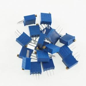 Pack 17 potenciometros precision multivuelta lineal DIP , 17 valores diferentes - Pack 17 potenciometros de ajuste precision multivuelta montaje DIP, 17 valores diferentes,