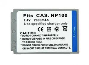 Batería compatible  CASIO NP-100 - Batería compatible CASIO NP-100