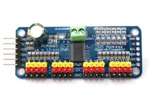 Controlador servos 16 canales de 12 bits pwm I2c pca9685 [COMPATIBLE ARDUINO] - Controlador servos 16 canales de 12 bits pwm I2c pca9685 [COMPATIBLE ARDUINO]