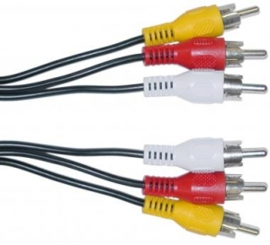 Cable Audio Y Video 3 X Rca M/m 1.2 Metros - Cable Audio Y Video 3 X Rca M/m 1.2 Metros