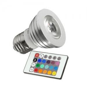 Bombilla Led RGB E27 3W con mando a distancia - Bombilla Led RGB E27 3W con mando a distancia