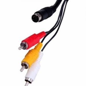Cable AV SEGA MEGADRIVE 2/ GENESIS 2  - Cable AV compatible con MEGADRIVE 2/ GENESIS 2(100% nuevo) Conexión Audio y Vídeo compuesto.