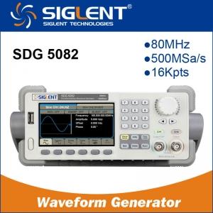 Genarador de Funciones Arbitrario  Siglent SDG5082 80MHZ  Color - Genarador de Funciones Arbitrario Siglent SDG5082 80MHZ  Color 500MSa/s sampling rate  14bits vertical resolution  512Kpts wave length