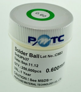 Bote bolas estaño con plomo 0,45mm 250.000 ud - Bote bolas estaño con plomo 0,45mm 250.000 ud. Producto para reballing BGA