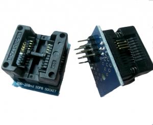 Zocalo programador facil insercion Sop8 a Dip8 - mod 200mil  - Zocalo programador facil insercion Sop8 a Dip8.  Compatible con todos los programadores que vendemos.