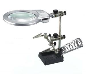 16129A Soporte con lupa  especial manos libres para electronica y Hobby + soporte soldador + luz le - 16129A Soporte con lupa  especial manos libres para electronica y Hobby + soporte soldador + luz le