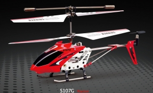 HELICOPTERO RADIO CONTROL  SYMA 107G  22 CM , 3,5 CANALES, GIROSCOPIO, - HELICOPTERO RADIO CONTROL MODELO SYMA 107G