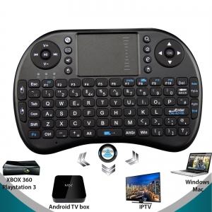 Teclado inalambrico con track pad mod T2 para minipc, android tv, media center  -  Teclado inalambrico con track pad mod T2 para minipc, android tv, media center