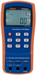 Portable Handheld LCR Meter TH2822A Capacitance Impedance 100Hz-10KHz - Portable Handheld LCR Meter TH2822A Capacitance Impedance 100Hz-10KHz  TH2822A adopts the ultra-low dissipation design and high density SMD assembly techniques and can simultaneously display primary and secondary parameters by the use of backlit LCD display.
