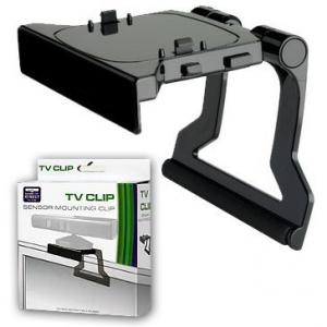 Soporte negro clip de tv televisor compatible para sensor Kinect XBOX 360 - Soporte negro clip de tv televisor compatible para sensor Kinect XBOX 360