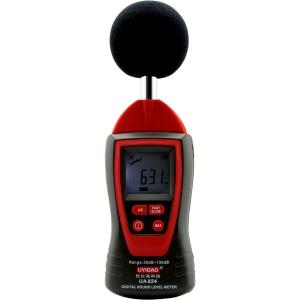 Medidor digital de sonido alta precision UYIGAO UA824 - Medidor digital de sonido alta precision UYIGAO UA824, con funcion de retencion de maximo valor, muestreo rapido y lento, y Valoración de frecuencia: A y C. Un equipo de bajo coste con prestaciones de equipos de medicion de un precio muchisimo mayor.