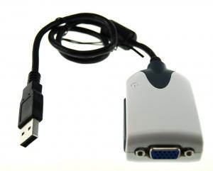 Adaptador de Video VGA por  USB  (pantalla adicional para tu pc) - El adaptador de video VGA por USB 2.0 permite conectar a su portatil o PC una pantalla adicional. Hasta 6 pantallas simultáneas con 6 adaptadores, y resolucion maxima 1600 x1200 Multiples modos de uso primario, extendido, espejo.