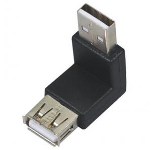 Adaptador USB macho a USB Hembra angulo 90º - Adaptador USB macho a USB Hembra 90º