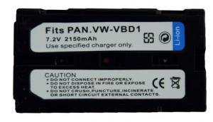 Batería compatible  PANASONIC VBD1/VBD2E - Batería compatible  PANASONIC VBD1/VBD2E