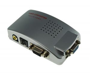 Convertidor señal VGA a RCA Video  y S-video - Convertidor señal VGA a RCA Video  y S-video. Con este adaptador podrás convertir la señal VGA de un ordenador al formato Video o S-Video Salida simultánea de la señal VGA y las señales Video/S-Video para visualizacion en mas de 1 pantalla.