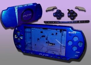 CARCASA COMPLETA DE PSP2000/SLIM COLOR AZUL ELECTRICO (INCLUYE BOTONES) - Carcasa completa para PSP2000/SLIM.  Incluye carcasa frontal, carcasa trasera, tapa batería, tapa lector UMD y todos los botones (excepto botones L y R)  Color AZUL ELECTRICO.