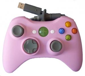 Mando con cable XBOX 360 *Compatible* Rosa - Mando con cable XBOX 360 *Compatible* color Rosa