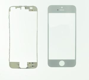 Pantalla de Cristal Iphone 5   BLANCO  + Marco adhesivo - Pantalla de Cristal Iphone 5  BLANCO  + Marco adhesivo