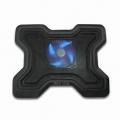 """Base Refrigeración portátiles 878 - Base  con ventilador para portátiles con pantalla de hasta 15"""" con base aliminio y carcasa de carcasa plastico para una mejor distribución del calor, conexión USB, ergonómico, reduce la temperatura del portátil y mejora la posicion de trabajo."""
