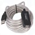 """Cable  prolongador USB 2.0 """"activo""""  5 metros - La forma mas simple y facil de usar un dispositivo USB 2.0 o 1.1 a distancia!! El cable  prolongador USB 2.0 """"activo"""" dispone de un circuito electronico interno que le permite prolongar la señal de un periferico USB sin perdida de calidad 5 metros. Hasta 5 cables unidos pueden encadenarse  para conseguir una distancia de 25 metros!!!"""