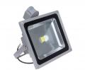 Foco Proyector LED  50W con sensor de movimiento color 6000K Luz brillante con  - Foco proyector LED orientable con una potencia de 50W y sensor de movimeinto , alimentación  de 85-220V AC que es ideal para exteriores ya que cuenta con una protección IP65. Sensibilidad y tiempo de encendido regulable. El arranque inmediato y sin parpadeos permite restablecer de forma inmediata las condiciones de iluminación previas a un corte de suministro. Altas prestaciones y máxima eficiencia energética con un foco direccional de 5-12 metros de alcance de luz luminosa y brillante. Acabado en aluminio de inyección. Cuenta con un radiador que garantiza una óptima disipación del calor.