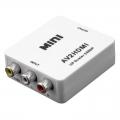 Convertidor señal Video RCA Video + Audio (AV)  a salida HDMI hasta 1080p - Convertidor señal Video RCA Video + Audio (AV)  a salida HDMI hasta 1080p Con seleccion de formato PAL o NTSC