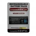 Batería Recargable de Ion-Litio NDSI XL 3,7v 2000mah - Batería Recargable de Ion-Litio NDSi XL  • Sólo para NDSi XLIncluye destornillador para cambiar la bateria  • 3.7V 840mah.  • Ofrece más de 2 horas seguidas de juego.  • Por favor, recargue la batería durante 7-8 horas la primera vez que la use