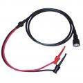 Cable coaxial RG58 BNC macho a Test Clips - Cable coaxial de tipo G58 BNC montado con conectores test clip en el otro extremos.  De color negro y longitud 140 cm.