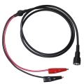 Cable coaxial RG58 BNC macho a Cocodrilos - Cable coaxial de tipo G58 BNC montado con conectores test clip en el otro extremos.  De color negro y longitud 140 cm.