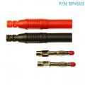 BP4503 Conector banana macho 4mm recto (incluye 1 rojo y 1 negro) - BP4503 Conector banana macho 4mm recto (incluye 1 rojo y 1 negro), para fabricar tus propios cables.