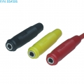 BS4506 Conector banana hembra 4mm (PACK NEGRO+ROJO) - BS4506 Conector banana hembra 4mm ( 2 colores disponiblles)