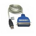 Cable  USB tipo A  macho a puerto Paralelo  C36(Conexión Impresora paralelo) WXP/VISTA/W7/W8/W10 - Imprime desde tu pc por puerto USB en cualquier impresoras de puerto paralelo!! PLUG AND PLAY SIN DRIVERS COMPATIBLE WINDOWS XP/VISTA/7/8/10 Este daptador de puerto USB a Puerto Paralelo permite a cualquier Pc con windows imprimir en cualquier impresora equipada con un puerto de impresion paralelo Centronics hembra (el puerto estandard paralelo).