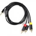 Cable conector 3.5mm a salida AV audio+video (compatible con gran cantidad de videocamaras y dvd) - Cable conector 3.5mm a salida AV audio+video (compatible con gran cantidad de videocamaras y dvd)