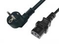 Cable de Alimentación PC   de Schuko - IEC de 3 Mts   - Cable de Alimentación Pc - Schuko - IEC de 3 Mts Fabricado con cable 0,75mm.  3 conductores  Conector 1: SCHUKO Macho.Toma de Tierra  Conector 2: IEC Hembra Angulado 90º.
