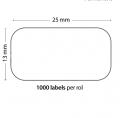 Rollo de 1000 Etiquetas Adhesivas tamaño 25mm*13mm*1000 Unidades compatible Dymo11353 - Rollo de 1000 etiquetas adhesivas profesionales, hechas con papel de primera calidad. Especificamente diseñadas para el sistema de impresión termal directo Dymo.