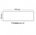 Rollo de 110 Etiquetas Adhesivas tamaño 190mm*59mm*110 Unidades compatible Dymo99019 - Rollo de 110 etiquetas adhesivas profesionales, hechas con papel de primera calidad. Especificamente diseñadas para el sistema de impresión termal directo Dymo.