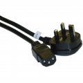 England / UK Computer/Monitor Power Cord with Fuse, BS 1363 to C13, VDE Approved, 6 foot - England / UK Computer/Monitor Power Cord with Fuse, BS 1363 to C13, VDE Approved, 6 foot