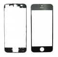 Pantalla de Cristal Iphone 5s NEGRA + Marco adhesivo - Pantalla de Cristal Iphone 5s   NEGRA + Marco adhesivo