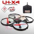Quadcoptero LH-X4  2,4ghz 4 canales, 6 ejes y giroscopio tamaño 32,5cm x 32,5cm x 6,5cm - Quadcoptero LH-X4 2,4ghz 4 canales, 6 ejes y giroscopio quadcoptero  de 32,5cm x 32,5cm x 6,5cm, y con una capacidad de vuelo total que permite desplazarse en cualquiera de los 6 ejes, con un mando de 2,4ghz que mejora la respuesta de movimiento de los mandos tradicionales. Para uso en exteriores