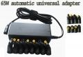 CARGADOR  UNIVERSAL PARA ORDENADORES PORTATILES 65W - ** ESTE PRODUCTO A SIDO SUBSTITUIDO POR  CARGADOR UNIVERSAL PARA ORDENADORES PORTATILES 60w a 120W** Adaptador de corriente 65 AC/DC para portátiles . Los adaptadores de corriente delgado y ligero y son compatibles prácticamente con todos los portátiles.