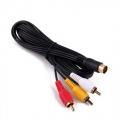 Cable AV para  SEGA SATURN - Cable AV compatible con SEGA SATURN(100% nuevo) Conexión Audio y Vídeo compuesto.