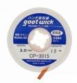 Malla desoldar  GOOT WICK CP-3015  - Malla desoldar  GOOT CP-3015  - 3 mm ancho x 1,5 metros largo Producto para retirar estaño de placas y componentes.