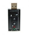 Tarjeta sonido 7.1 USB - Con el adaptador de sonido USB 7.1,tendras una salida de audio 7.1 y entrada de microfono con solamente tener un puerto USB libre.