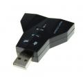Tarjeta sonido dual USB (2 salidas audio + 2 entradas audio) - Con el adaptador de sonido USB 7.1 dual ,tendras dos salidas de audio 7.1 y dos entradas de microfono con solamente tener un puerto USB libre.