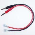 TL22036 Cable Banana 4mm a Coenctor presion faston 30 cm - TL22036 Cable Banana 4mm a Conector presion faston 30 cm, cable con conexiones banana y faston el el lado contrario, muy util para alimentar placas que estemos reparando que usen este tipo de conectores, muy habituales, para poser usar una fuente alimentacion regulable para alimentarlas.