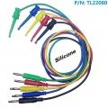 TL22080 Cable punta de prueba con gancho  y conexion banana cable 1 metro 16AWG - TL22080 Cable 16AWG 1 metro   con punta de prueba con gancho  y conexion banana 1 metro