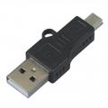 Adaptador USB macho a MINI-USB Macho - Adaptador USB macho a MINI-USB Macho