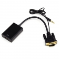 Convertidor señal Video VGA+Audio a salida video HDMI - Adaptador VGA con Sonido a  HDMI - Adaptador
