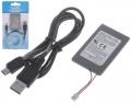 Batería recargable mando PS3 1800mah + cable carga usb playstation 3 -  Batería de litio 1800mAh compatible con cualquier mando inalámbrico de Playstation 3, ya sean origiales o compatibles